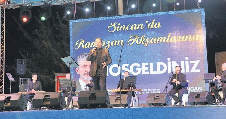 Sincan'da Ahmet Özhan rüzgârı