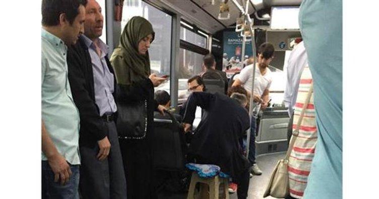 Metrobüste 'tabureli' çözüm...