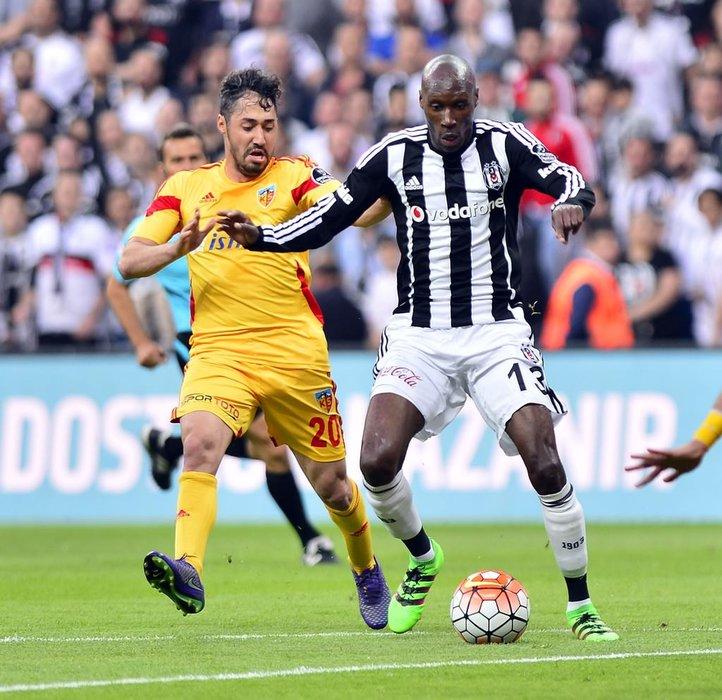 Beşiktaş-Kayserispor maçından kareler