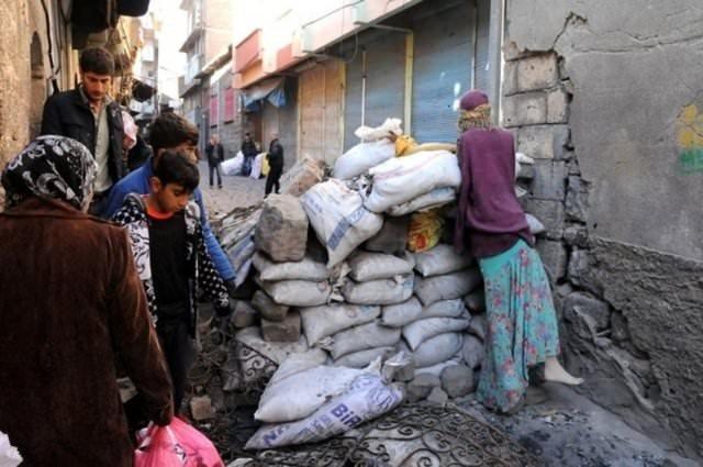 Diyarbakır Sur'da yasak sonrası kareler