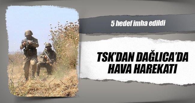 TSK'dan Dağlıca'da hava harekatı