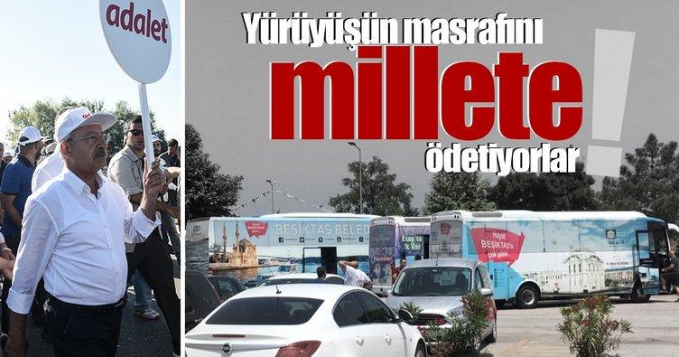 CHP yürüyüşün faturasını millete ödetmeye karar verdi!