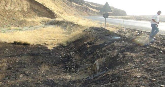 Şırnak'ta PKK'lılar yola patlayıcı döşedi