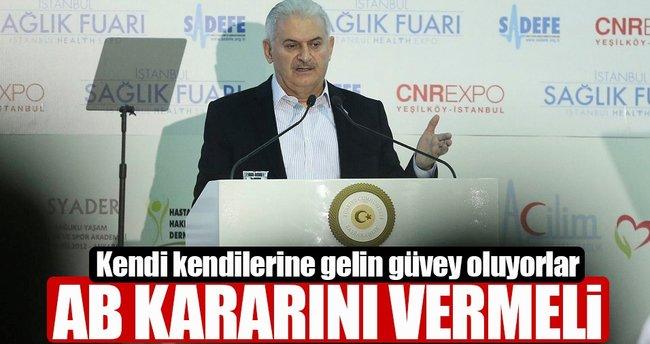 Başbakan Yıldırım'dan AP'nin skandal kararına sert tepki