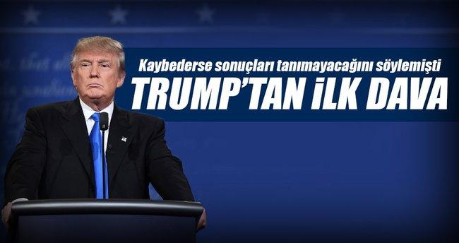 Trump mahkemeye başvurdu