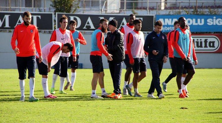 Trabzonspor'da gergin antrenman