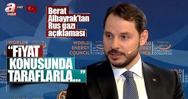 Berat Albayrak: Rus doğalgazının indirimi konusunda mutabık kaldık