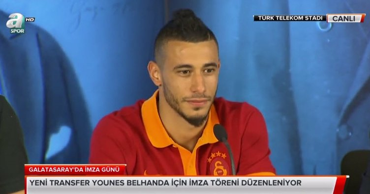 Galatasaray'da Belhanda imzayı attı