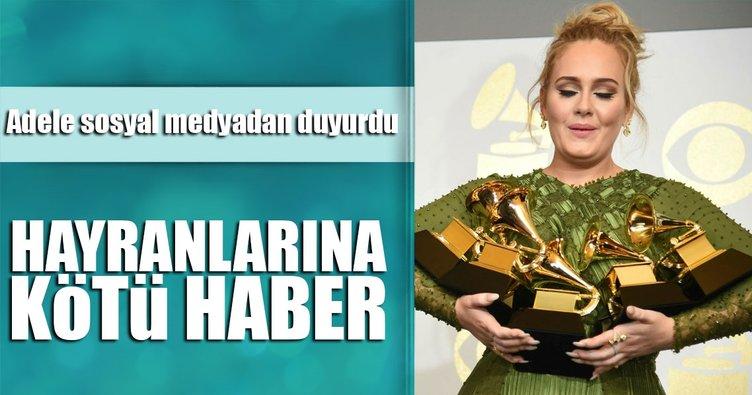 Adele: Artık sahneye çıkmayacağım