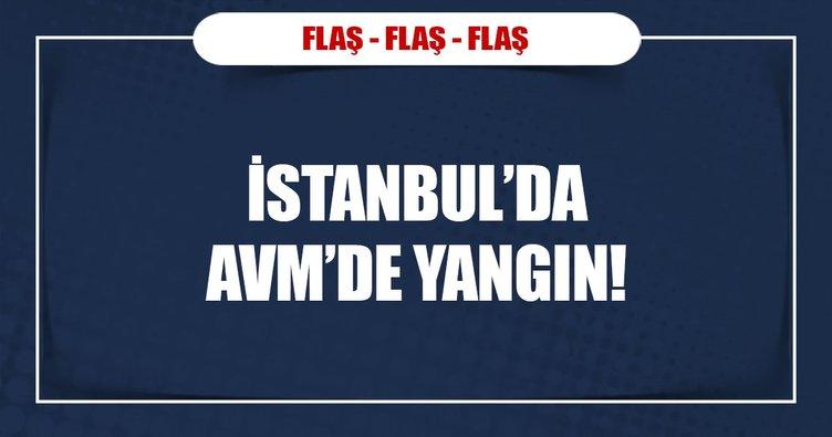 İstanbul'da AVM'de yangın!