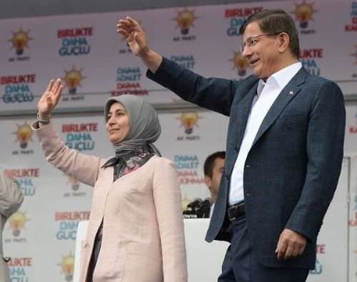 Başbakan Davutoğlu'nun Konya mitinginden kareler