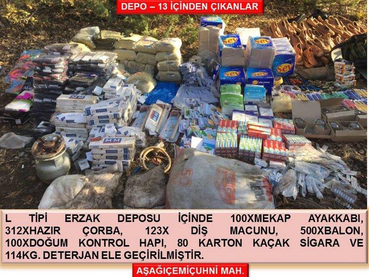 Şırnak'ta PKK'nın mühimmatı ele geçirildi