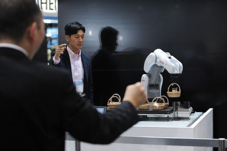 Tokyo'da uluslararası robot fuarı