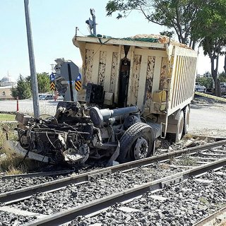 Elazığ'da hemzemin geçitte kaza: 1 yaralı
