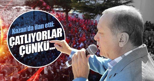 Erdoğan: Bu yüzden çatlayıp, patlıyorlar