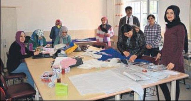 Korkuteli'de giyim kursu ilgi görüyor