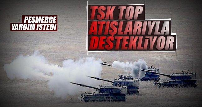 TSK'dan Peşmerge'ye Topçu desteği