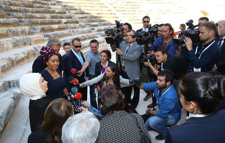 Lider eşleri Antalya'yı gezdi