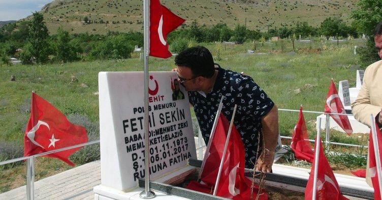 Bülent Serttaş, şehit polis Sekin'nin mezarını ziyaret etti
