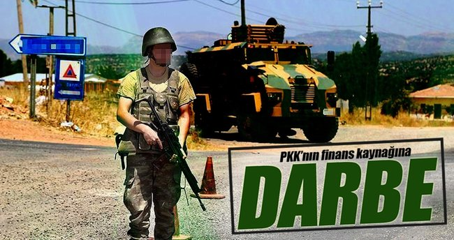 PKK'nın finans kaynağına darbe!