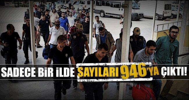 Antalya'da FETÖ/PDY'den toplam 946 kişi tutuklandı