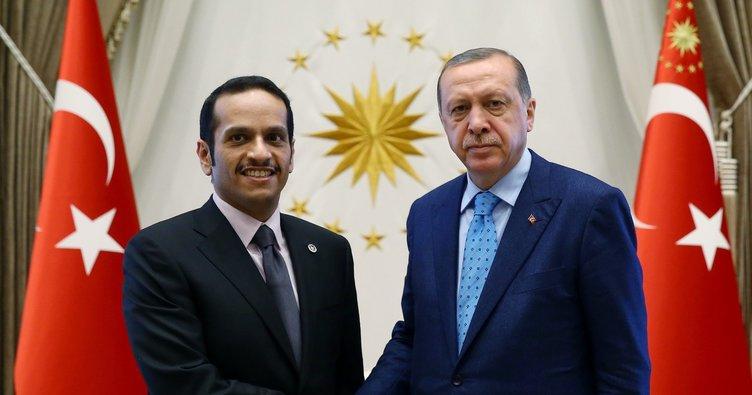 Cumhurbaşkanı Erdoğan, Al Sani ile görüştü!
