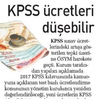 KPSS ücretleri düşebilir