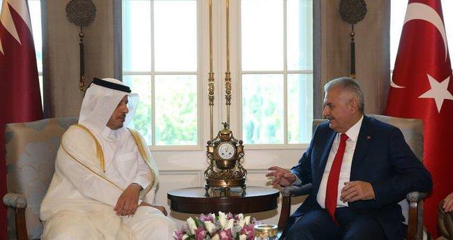 Başbakan Yıldırım: Katar Türkiye ile müstesna bir dayanışma gösterdi