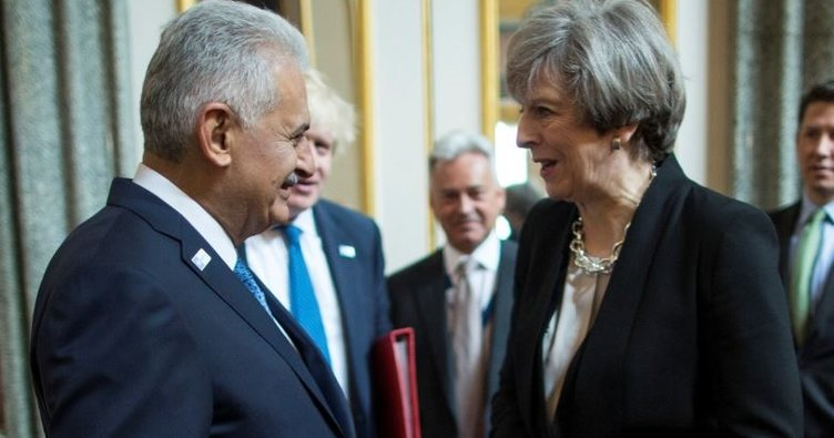 Başbakan Yıldırım İngiltere Başbakanı May ile görüştü