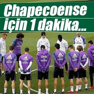 Real Madrid'den Chapecoense için saygı duruşu