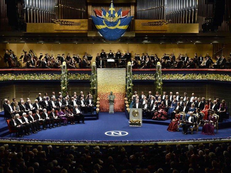 Aziz Sancar'ın ödül aldığı Nobel Ödül Töreni'nden kareler