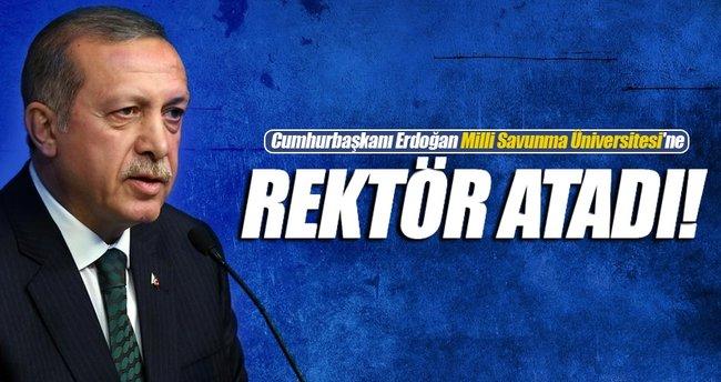 Cumhurbaşkanı Erdoğan Milli Savunma Üniversitesi'e rektör atadı