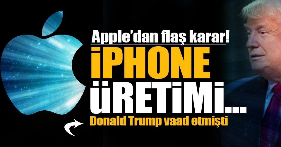 Apple, iPhone üretimini ABD'ye taşıyabilir!