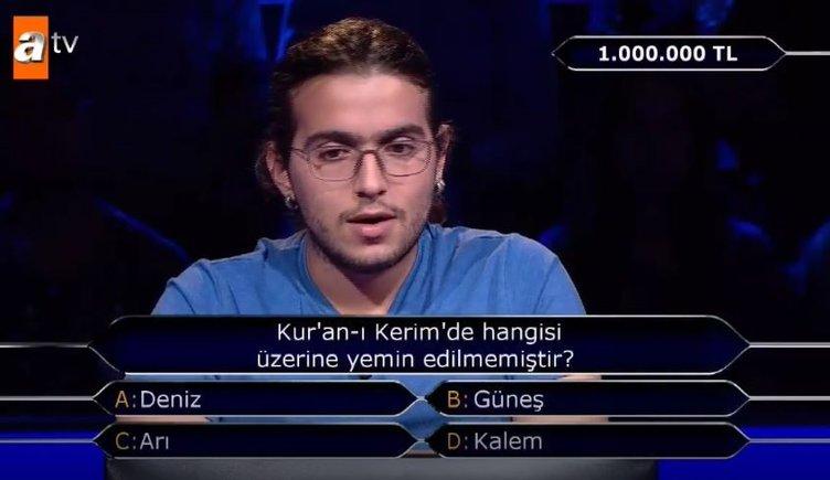 Kim Milyoner Olmak İster'de1 milyonluk soru! Çağdaş İrfan Yıldırım,soruyu bildi ama...