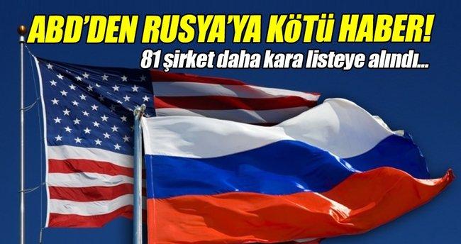 ABD Rusya'ya yönelik yaptırımlarını genişletti!
