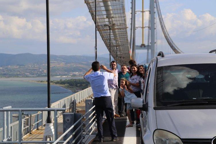 Osmangazi Köprüsü'nde selfie çekenlere ceza