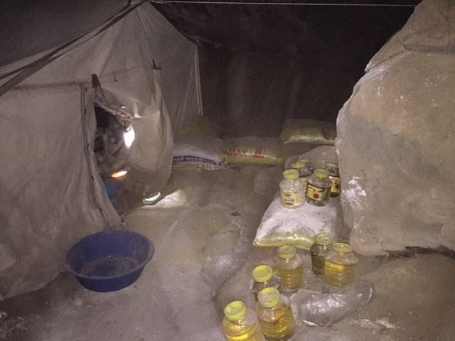 PKK'nın erzak deposu bulundu