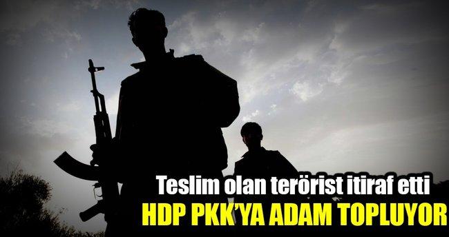 HDP aracılığıyla PKK terör örgütüne katılmış