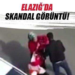 Elazığ'da skandal görüntü
