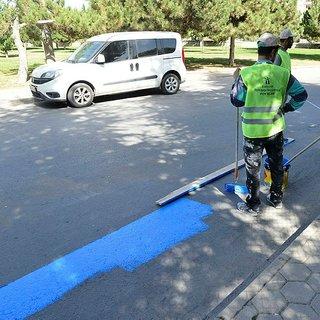 Elektrikli bisikletler için yol yapılıyor