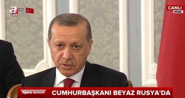 Cumhurbaşkanı Erdoğan Beyaz Rusya'da