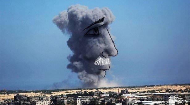 Gazze'ye düşen füzelerdeki gizli silüetler