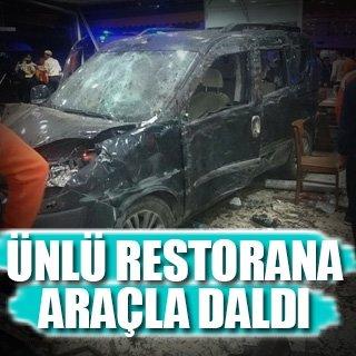 Bursa'da araç restorana girdi: 9 yaralı!