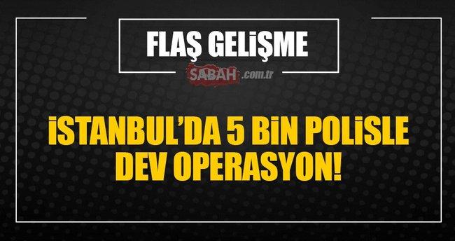 İstanbul'da Yeditepe Huzur operasyonu
