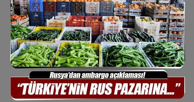 Rusya Tarım Bakanı: Türkiye'ye ambargonun kaldırılması...