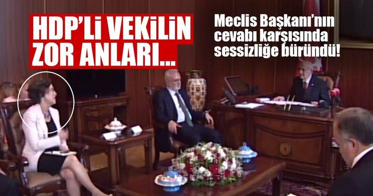 TBMM Başkanı Kahraman'ın yanıtı HDP'li vekili zor anlar yaşattı