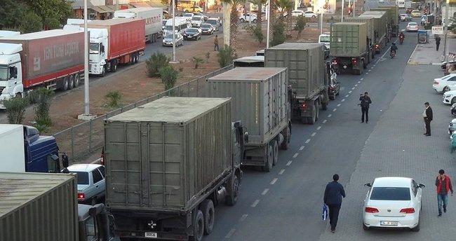 Askeri konvoy Silopi'ye ulaştı