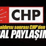 Bombalı saldırı sonrası CHP'den skandal paylaşım!