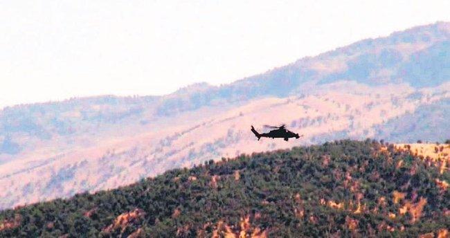 Tepelerine bomba yağdı