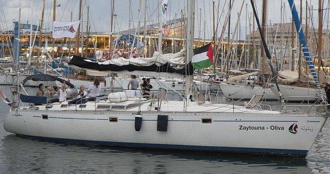 Gazze'ye özgürlük gemisi Korsika'ya ulaştı